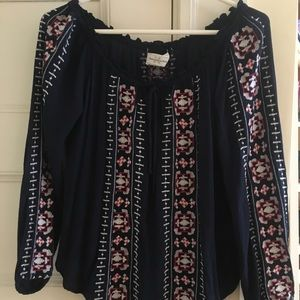 Abercrombie embroidered top